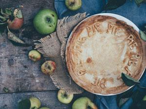 aerial of apple pie